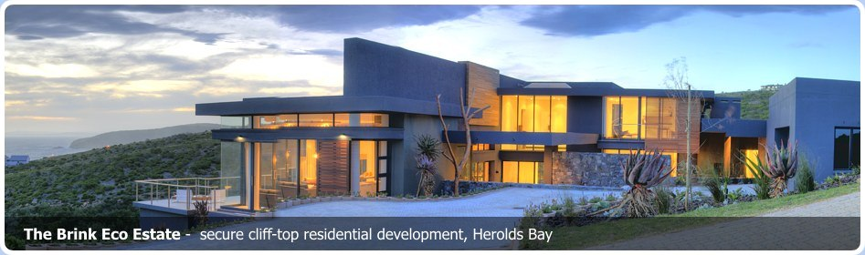 The Brink Eco Estate Garden Route. Secure cliff-top residential development, Herolds Bay
